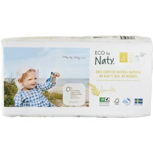 Couches Naty – Taille 4 Maxi ECO 7-16 kg, 44 pcs