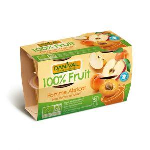 Dessert de fruits pomme/abricot sans sucre Bio - Danival