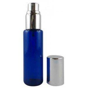 Flacon à parfum en verre bleu - déréférencé
