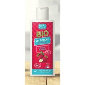 Gel douche extra doux fraise des bois 250 ml Bio - Fun'Ethic