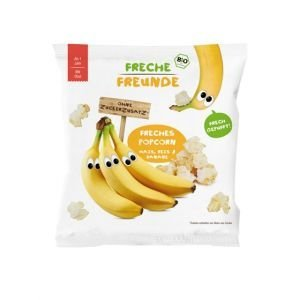 Popcorn Maïs, Riz, Banane Demeter - Freche Freunde