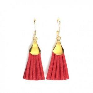 Boucles d'oreilles Lilou - Doré, Rouge - Millescence