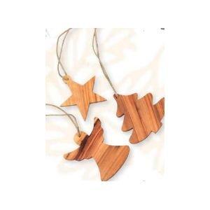 Set de 3 décorations étoile, ange, sapin - Ecodis
