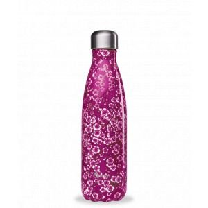 Bouteille isotherme Flowers Pink 500ml - Qwetch