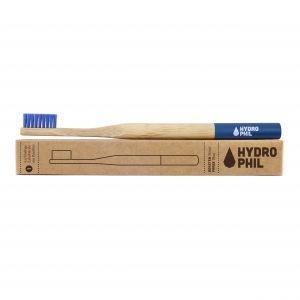 Brosse à dents en bambou Bleu Médium-Soft - Hydrophil