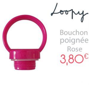 Bouchon poignée - Loopy - Rose - GaspaJOE