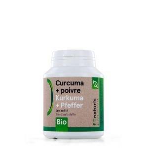 Curcuma + poivre BIO 180 gélules 260 mg