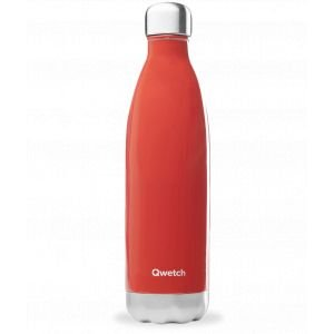 Bouteille isotherme inox - rouge brillant - 750ml - Qwetch