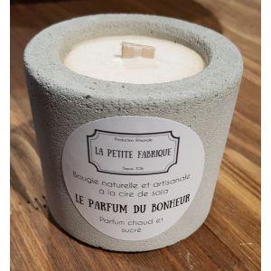 Bougie béton « Le parfum du bonheur » - La Petite Fabrique