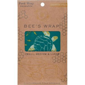 3 Emballages Bee's Wrap S-M-L Océan