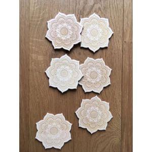 Dessous de verres - Mandala - Fleur de Vie - En dehors du cadre