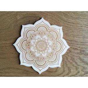 Dessous de bougie - Mandala - Fleur de vie - En dehors du cadre