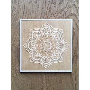Dessous de bougie carré - Mandala - Fleur de vie - En dehors du cadre