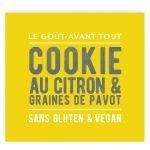 Cookie au citron et graines de pavot Bio, Sans Gluten & Vegan - Freely Handustry