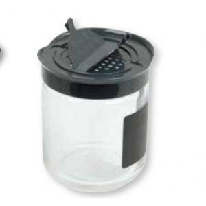 Grand pot à épices avec étiquette ardoise - Ah Table