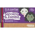 Kit Maquillage 3 couleurs Sorcière & Zombie BIO - Namaki