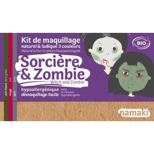 Kit Maquillage 3 couleurs - Sorcière & Zombie BIO - Namaki