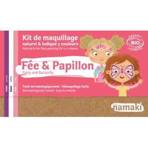 Kit Maquillage 3 couleurs - Fée & Papillon BIO - Namaki
