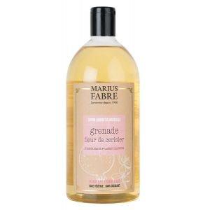 Savon Liquide de Marseille 1L Fleur de cerisier et Grenade - recharge - Marius Fabre