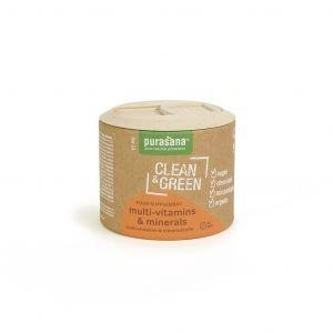 Clean & Green - Multi-vitamines et Minéraux - Bio - 60 caps. - Purasana