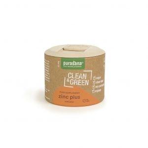 Clean & Green - Zinc Plus - Bio - 60 caps. - Purasana