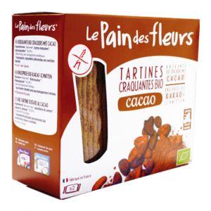 Tartines craquantes au cacao Bio - Le pain des fleurs