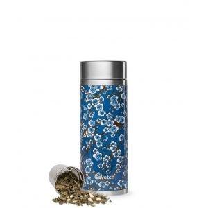 Théière isotherme FLOWERS bleu inox 300 ml - Qwetch