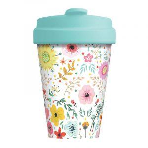 Mug BambooCup Divers fleurs - 400ml - Chic Mic