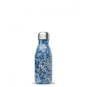 Bouteille inox iso FLOWERS - bleu - 260 ml - Qwetch