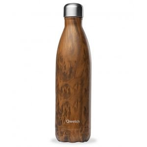Bouteille inox iso wood brun 750 ml - Qwetch