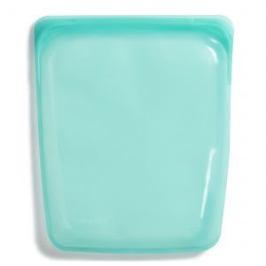 Grand sac réutilisable en silicone Aqua - 21,5 x 26 cm - Stasher