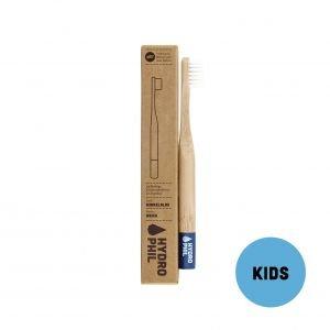 Brosse à dents en bambou Bleu Enfant Medium-Soft - Hydrophil