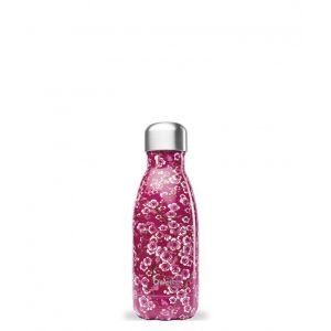 Bouteille inox iso FLOWERS rose 260 ml - Qwetch