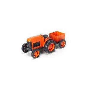 Tracteur orange avec remorque - Green Toys