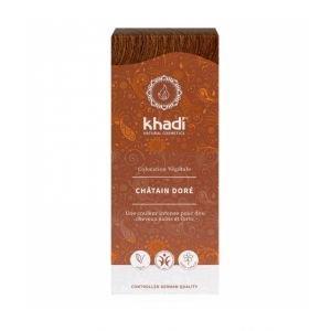 Teinture aux plantes BIO châtain doré - Khadi