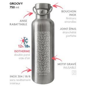 Groovy Feuillage inox 750 ml - GaspaJOE
