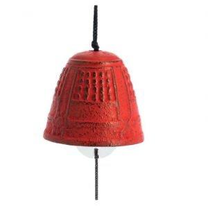 Cloche à vent Furin Iwachu 4.5cm rouge - Iwachu