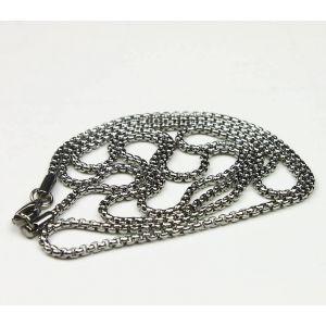 chaîne en acier fin style vénetian ronde Ø 2 mm / 55 cm