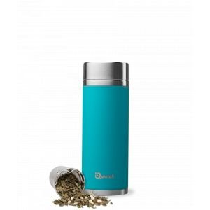 Théière nomade isotherme en inox - bleu turquoise - 400 ml - Qwetch