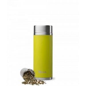 Théière nomade isotherme en inox - Vert - 400 ml - Qwetch