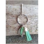 Bracelet - Argenté, Vert - Millescence