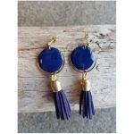 Boucles d'oreilles Luna - Dorées, Bleues - Millescence