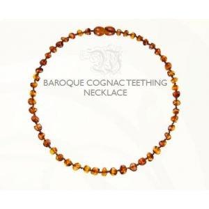 Collier bébé ambre naturel - Cognac - Amberos