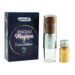 Poudre scintillante dorée & son pinceau Magique - Namaki