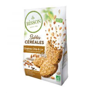 Sablés céréales graines de chia et lin - Bisson
