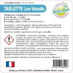 Étiquettes réglementaires Lave Vaisselle Classic x50 - Bulle Verte