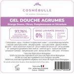 Étiquettes réglementaires Gel douche Agrumes x50 - Cosmébulle