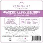 Étiquettes réglementaires Gel Corps et cheveux Tonic x50 - Cosmébulle