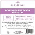 Étiquettes réglementaires Bondillons de Savon pur Olive x50 - CosméBulle