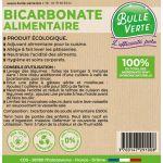 Étiquettes réglementaires Bicarbonate alimentaire x50 - Bulle Verte
